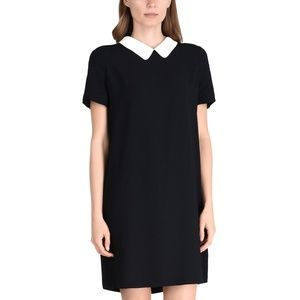 A|X ARMANI EXCHANGE peter pan collar shift dress